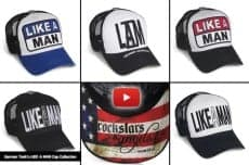 my 'LIKE A MAN' cap collection