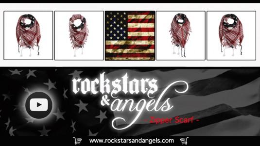 zipper scarf, rockstars and angels, rockstars & angels, euros of hollywood, euros, sascha gerecht, german tank